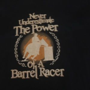 Ladies Tee Horse Barrel Racer Navy Size Small NEW